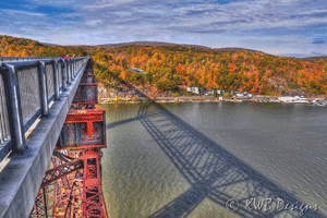 Poughkeepsie Walkway over the Hudson river